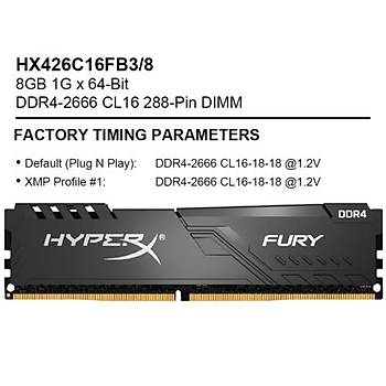 Kingston-HyperX 8GB 2666MHz CL16 D4 HX426C16FB3/8