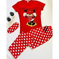Minnie Mouse Baskýlý Pijama Takýmý