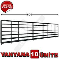 Çelik Raf  31*600*250 10 Lu