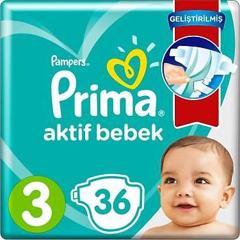 Prima Aktif Bebek 3 Numara 36 Adet
