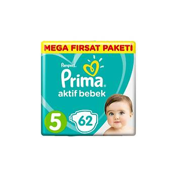 Prima Aktif Bebek Mega Fýrsat Paketi 5 Beden 62'li