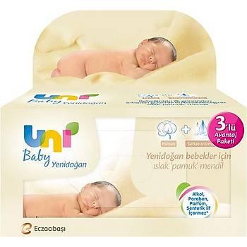 Uni Baby Yenidoðan 3x40 Adet Islak Mendil