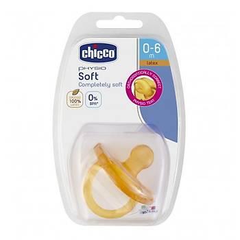 Chicco Physio Soft Kauçuk Emzik 0 Ay+ Tekli