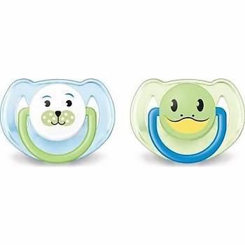Philips Avent SCF182/64 Orthodontic Hayvan Desenli 6-18 Ay 2'li Emzik