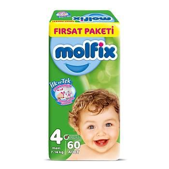 Molfix Bebek Bezi Maxi 60'lý Fýrsat Paketi 3D