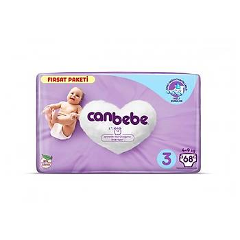 Canbebe 3 Numara Bebek Bezi 68 Adet