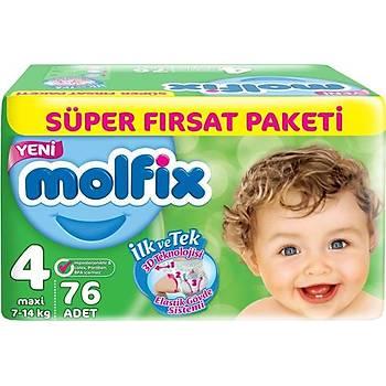 Molfix 4 Numara 76 Adet Bebek Bezi