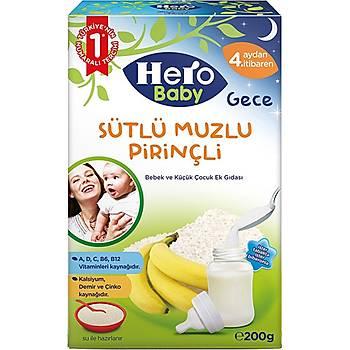 Hero Baby Sütlü Muzlu Pirinçli Gece Kaþýk Mamasý 200 gr