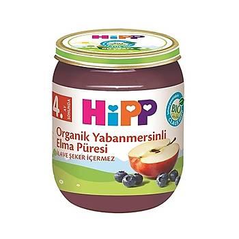 Hipp Organik Yabanmersinli Elma Püresi Kavanoz Mamasý 125 gr