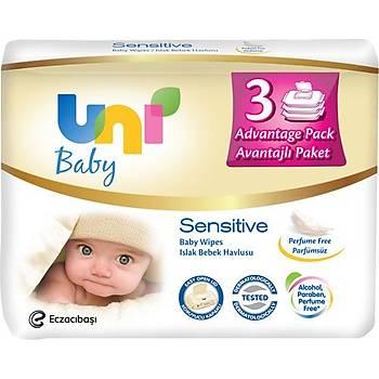 Uni Baby Sensitive 3X56 Islak Mendil