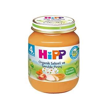 Hipp Organik Sebze ve Tavuk Kremalý Pirinç Kavanoz 125 gr
