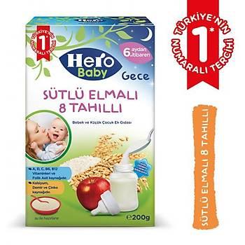 Hero Baby Sütlü Elmalý 8 Tahýllý Kaþýk Mamasý 200 gr