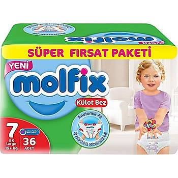 Molfix 7 Numara 36 Adet Külot Bez