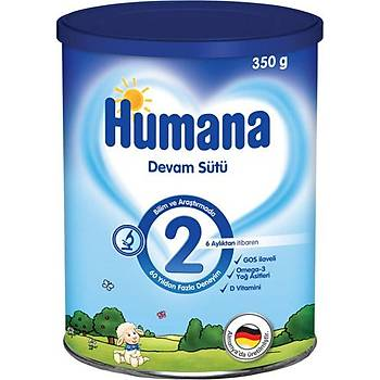 Humana 2 Bebek Devam Sütü 800Gr