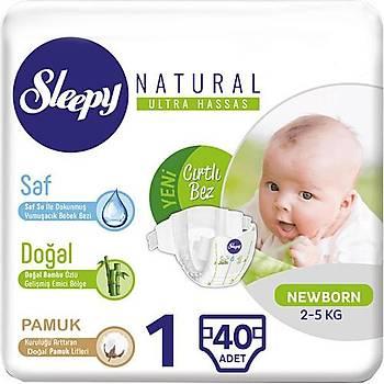 Sleepy Natural 1 Numara Yenidoðan 40 Adet