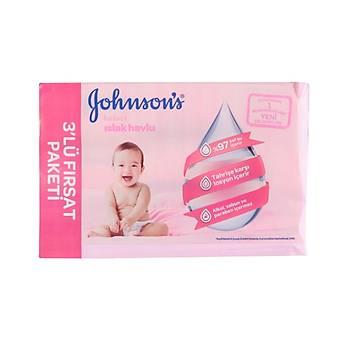 Johnson's Baby Islak Mendil Hassas 72'li - 3'lü Fýrsat Paketi