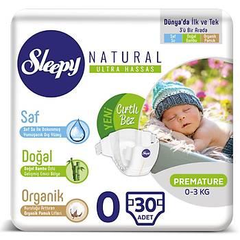 Sleepy Naturel Bebek Bezi 0 Numara 30 Adet