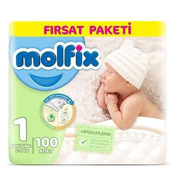Molfix Bebek Bezi Yenidoðan 100'lü Fýrsat Paketi 3D