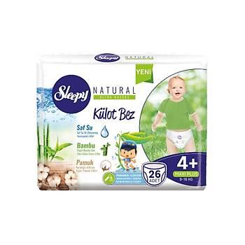 Sleepy Külot Bez 4+ Natural Maxi Plus 26 lý Paket