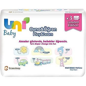 Uni Baby Bebek Havlusu Oyna & Öðren Avantaj Paketi 3 x 52 Adet
