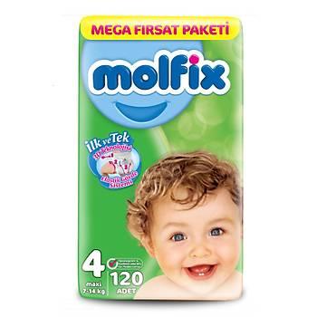 Molfix Mega Fýrsat Bebek Bezi Maxi 120'li 3D