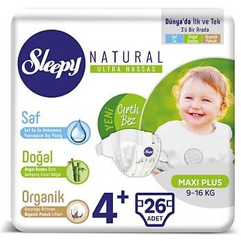 Sleeyp Naturel 4+ Beden 26 lý Paket