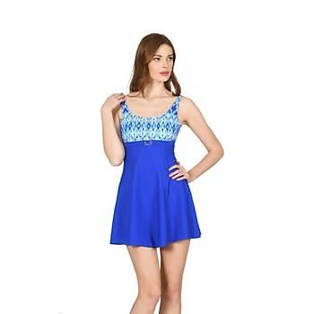 Nbb 55233 Bayan Elbise Mayo Mavi