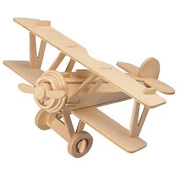 3D Ahþap Puzzle Yapboz Maket Uçak Boyanabilir G-P060 30 Parça