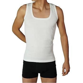 Nazar Yýldýz Erkek Penye Atlet Beyaz