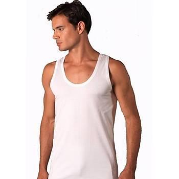 6 lý Paket Þahinler E002 Erkek Penye Atlet Pamuklu Beyaz