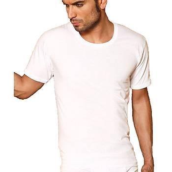 X-Man 306 Erkek T-Shirt Erkek Kýsa Kol Atlet Beyaz