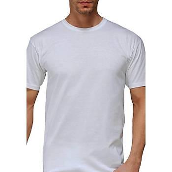 Çift Kaplan Erkek Süprem Atlet Beyaz T-Shirt 947