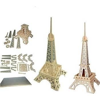 3D Ahþap Puzzle Yapboz Maket Eyfel Kulesi Boyanabilir