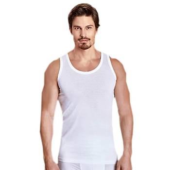 6 lý Paket Berrak Erkek Askýlý Pamuklu Atlet 1020 Beyaz