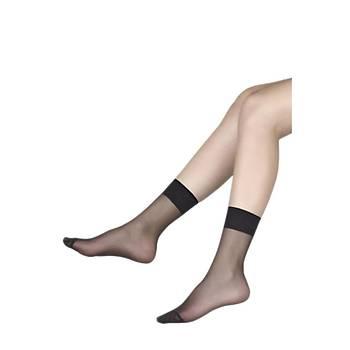 3 Çift Müjde Bayan 20 Denye Soket Çorap Ýnce Kýsa Soket Çorap