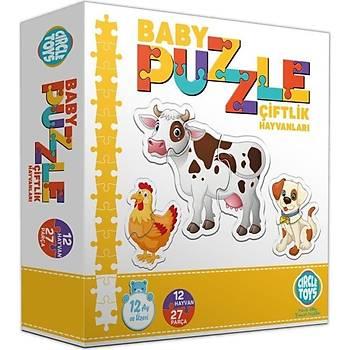 Circle Toys Baby Puzzle Çiftlik Hayvanlarý 12 Hayvan