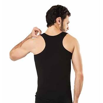 6 lý Paket HMD Erkek Likralý Sporcu Atleti Erkek Rambo Atleti Beyaz 700
