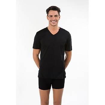 Kom Erkek V Yaka Atlet T-Shirt - Antonio