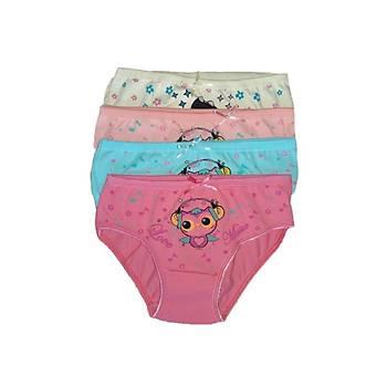 6 lý Paket Sedef Yýldýzý Kýz Çocuk Ýnce Lastik Bikini Külot