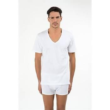 Kom Enrico Erkek Atlet 2 Li Paket V Yaka T-Shirt