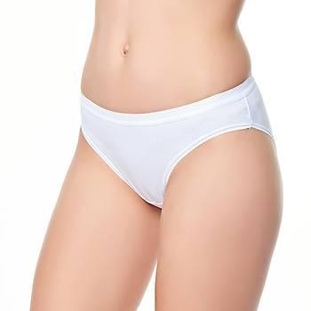 6 lý Paket Tutku Bayan Bikini Külot Yüzde Yüz Pamuklu Düz Renkler