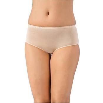 3 lü Paket Lüx Drm Bayan Bambu Yüksek Bel Bikini Külot Slip 3400