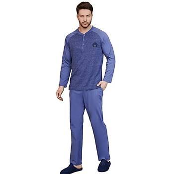 Mecit 2753 Erkek Uzun Kol Pijama Takýmý