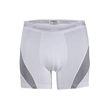 6 Adet Yýldýz Erkek Likralý Modal Boxer Short Beyaz 105