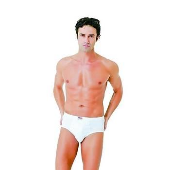 6'lý Paket Donex 2305 Erkek Penye Slip Külot Yüzde Yüz Pamuk Beyaz