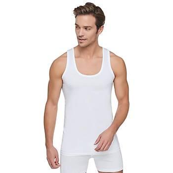 6 lý Paket Tutku Erkek Penye Atlet Yüzde Yüz Pamuklu Beyaz