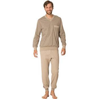 Mecit V Yaka Erkek Pijama Takýmý Battal Ribana Erkek Pijama 2711