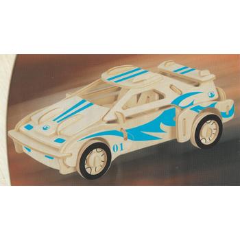 3D Ahþap Puzzle Yapboz Maket Yarýþ Arabasý Boyanabilir G-P065A