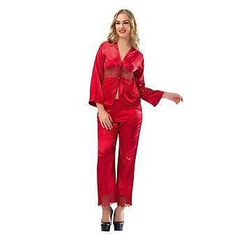 Sistina 1601 Bayan Saten Pijama Takýmý