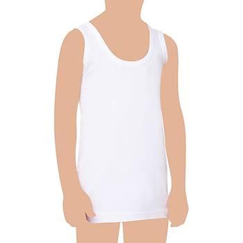 12 Adet Seher Yýldýzý Erkek Çocuk Atlet Pamuklu Beyaz